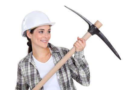 willingness: Woman with helmet