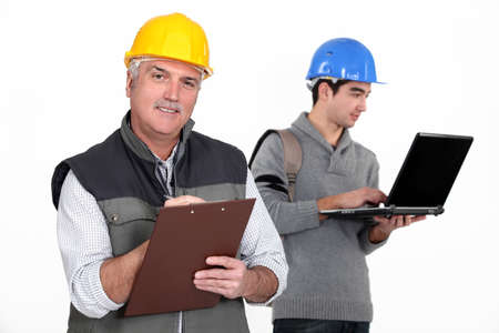 noting: Master and apprentice Stock Photo