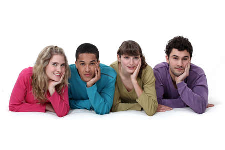 ethnically diverse: Ethnically diverse group of young people
