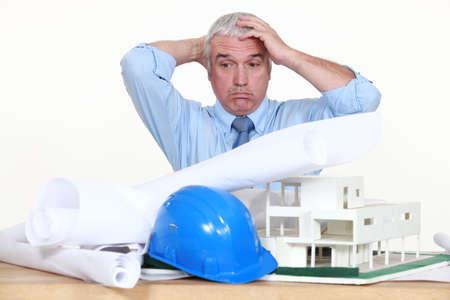 deployed: Architect desperate Stock Photo