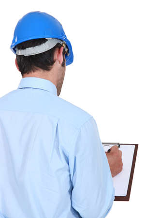 Engineer with a clipboard Stock Photo - 19695899