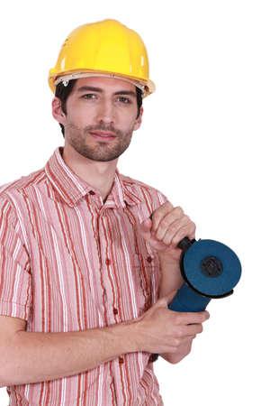 dishy: portrait of dishy carpenter Stock Photo