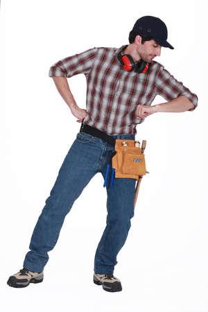 banter: Bearded manual worker