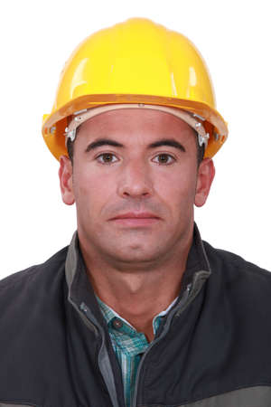 laborer: expressive laborer Stock Photo