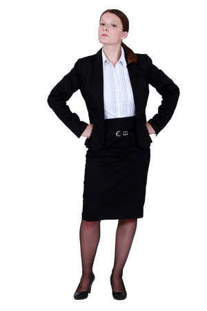 supercilious: Haughty businesswoman