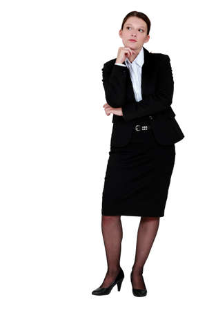 Businesswoman thinking photo