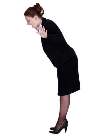 Businesswoman falling Stock Photo