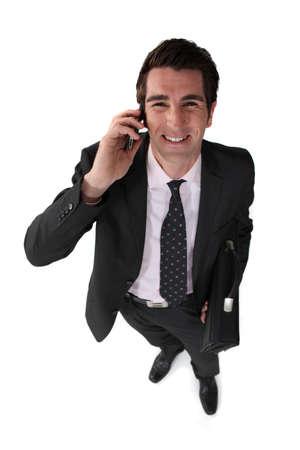 hilarious businessman on the phone Stock Photo - 19693271