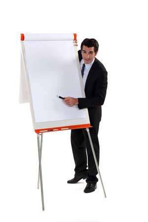 flip chart: Man with flipboard