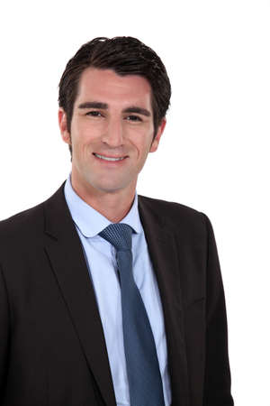 convivial: Portrait of a smiling businessman Stock Photo