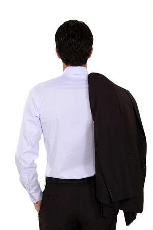 Elegant man from backwards photo