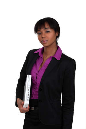 tied girl: Confident businesswoman Stock Photo