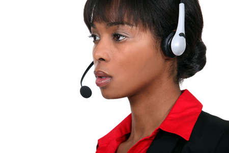 A call centre agent Stock Photo - 19805314