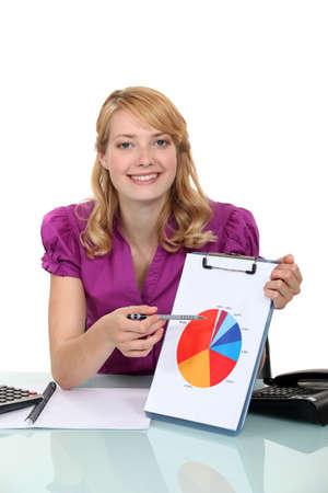 A businesswoman presenting a chart. Stock Photo - 19845324