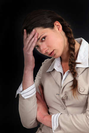 throb: Woman having a bad day