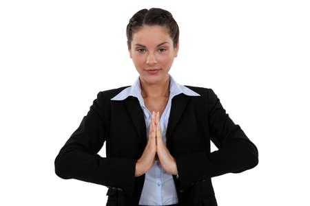 Zen businesswoman Stock Photo - 19805737