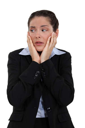 distraught: Distraught woman Stock Photo