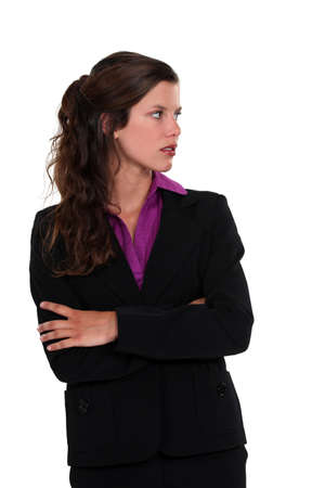 Businesswoman staring sideways Stock Photo - 19844636