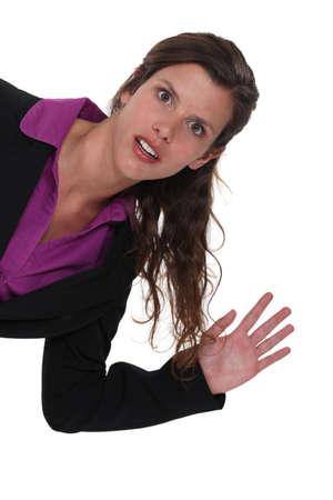 daft: Businesswoman waving