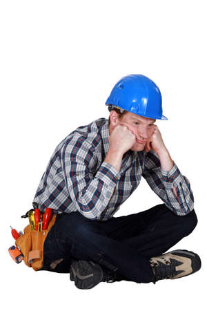 fedup: A fed-up and bored tradesman