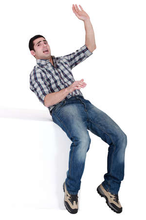 counterbalance: man slipping and falling