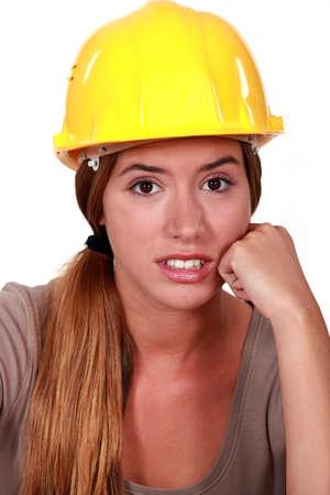 craftswoman: craftswoman face portrait