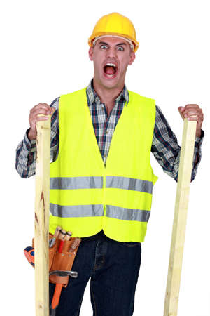 bawl: Mad construction worker