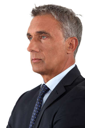 emotionless: Portrait of a serious businessman
