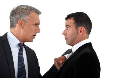 Businessmen having an argument photo