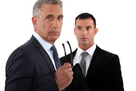 intimidated: Business professionals