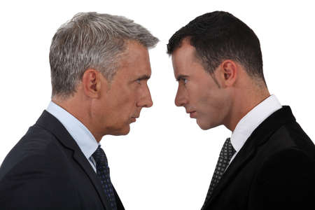 controversy: businessmen having a quarrel