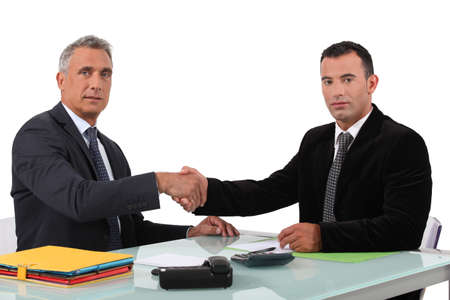 Jefe bienvenida nuevo colega
