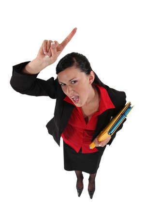 Angry female administrator photo