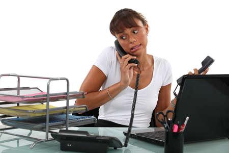 apologetic: Apologetic secretary on the phone