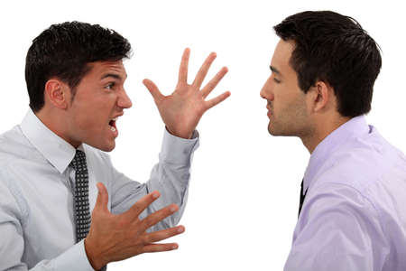 anger management: businessmen quarreling