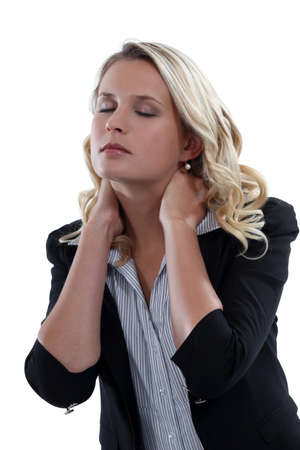 urging: Woman with neck pain