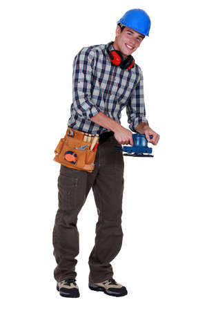 sander: Workman with a sander