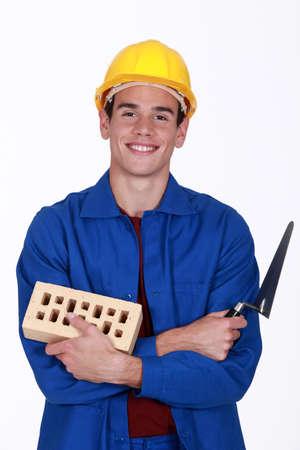 brick mason: happy mason