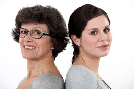 home grown: Woman and her adult daughter