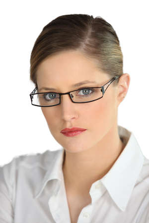 authoritative woman: Serious businesswoman