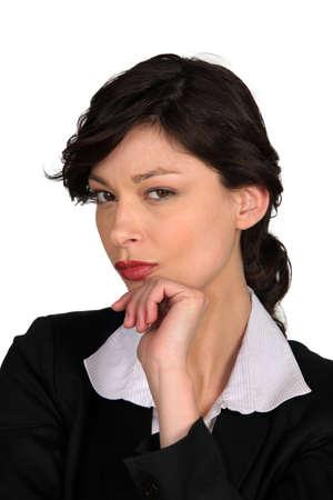 Furious businesswoman photo