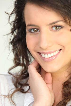 beautiful young woman smiling Stock Photo - 22030882