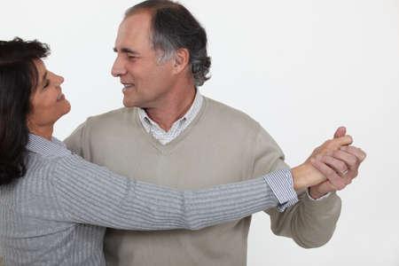 pareja bailando: Senior pareja bailando