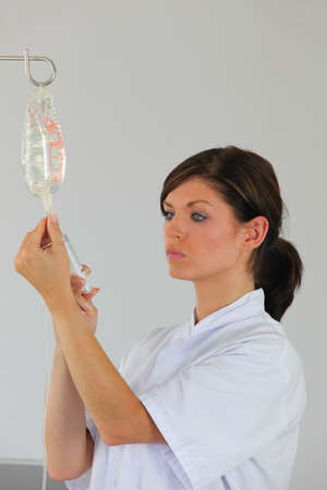 nurse injecting a product photo