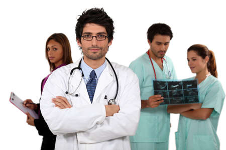 Doctor and his medical team photo