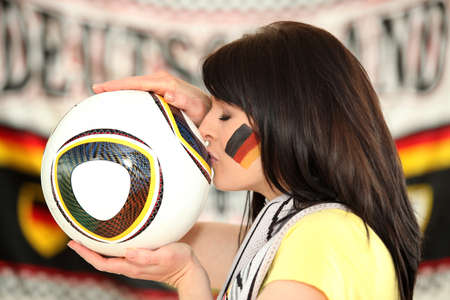 supporter: Female German soccer supporter