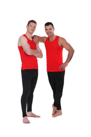 Men in leggings photo