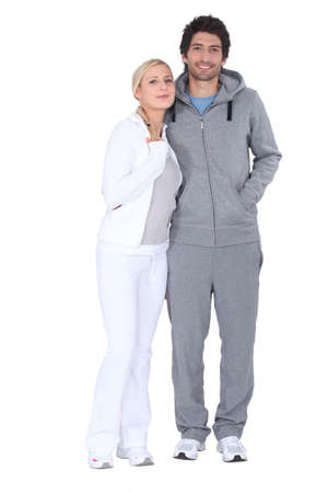 a couple wearing sport suits photo