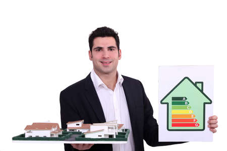 Architect with an energy rating sign photo
