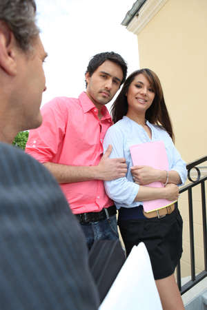 Couple meeting with a realtor Stock Photo - 22080702